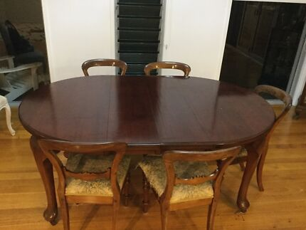 Dining Table with Balloon back chairs