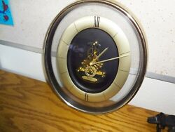 Vintage SEIKO Oval Skeleton Wall Clock Quartz Open Movement QAX201G 12404 Japan