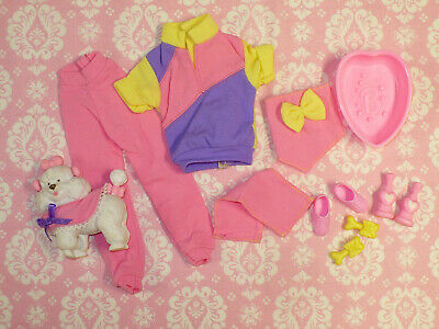 Mattel Barbie Doll Clothing Lot PET GROOMER DOG BATH Clothes & Accessories 90's