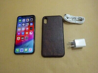 AT&T CRICKET H20 NET10 APPLE IPHONE X 64GB SPACE GRAY BLACK GREAT