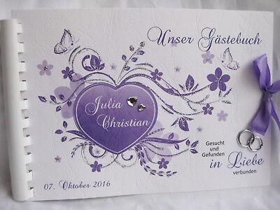 Gästebuch Hochzeit  Din A5, in verschiedenen Farben! Einladungskarten,