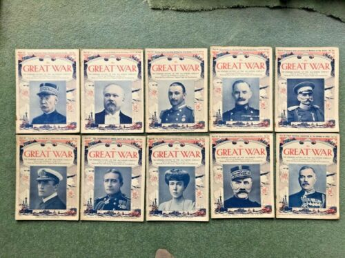 THE GREAT WAR Standard History of The All Europe Conflict 1915 magazines 21 - 30