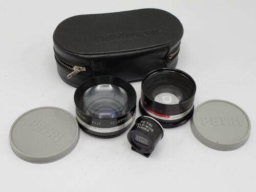 Petri Aux. Wide Tele Conversion Lens & Finder Set for Yashica Electro 35 G GSN