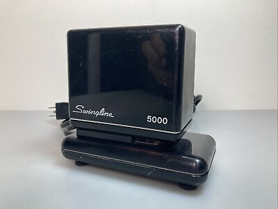 Vintage Swingline 5000 Electric Stapler With Staples Heavy Duty Black. Tested.
