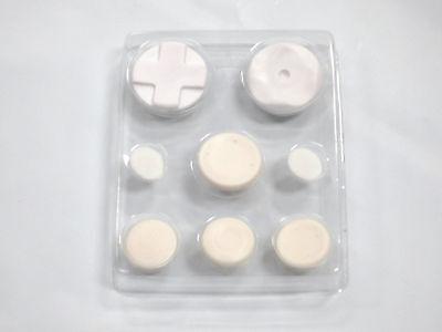 Psp Accessory Kit - PSP 1000 Extra Fight Button Pad Kit (8pcs)- White