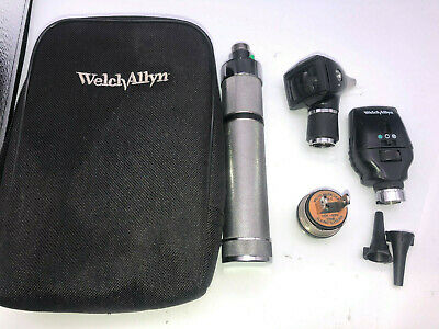 Welch Allyn Diagnostic Otoscope Coaxial Opthalmoscope 97150 71050-c 11720 25020
