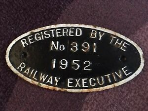 Railway Executive Locomotive Registration Plate