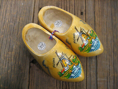 Souvenir of Holland Dutch Wooden Shoes Windmill Colorful & Attractive Holland Wooden Shoe