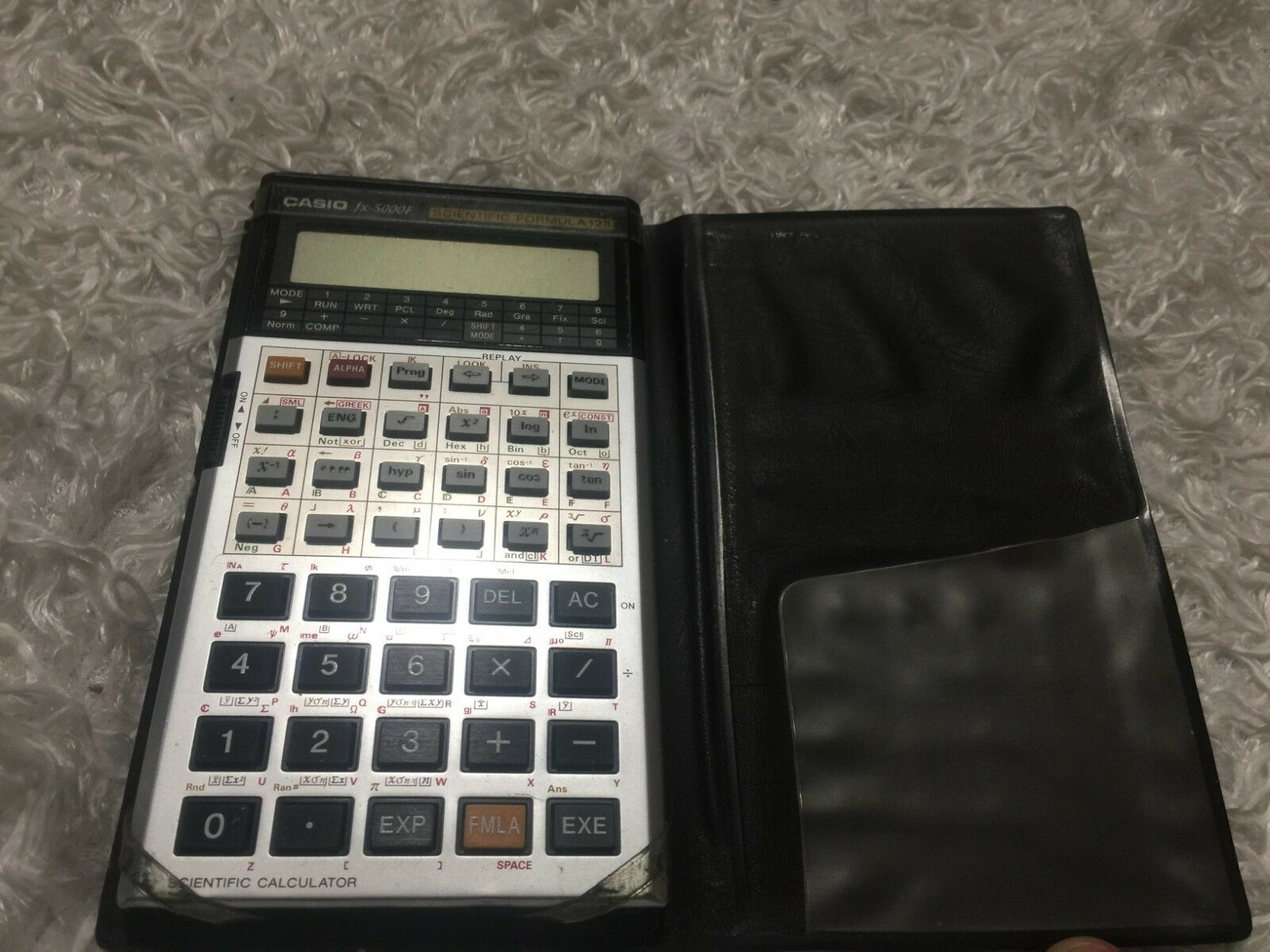 Vintage Casio fx-5000F Scientific Formula 128 Calculator - Untested.