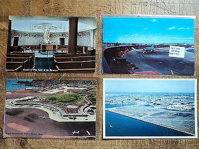 4 Vintage Logan Airport Boston Ma 1950S 60S