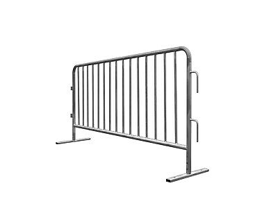 GALVANIZED STEEL ONE-PERSON OPERATION CROWD CONTROL BARRICADES 6.8'  Crowd Control Fence