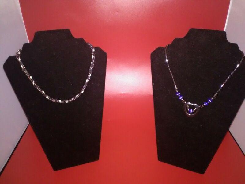 Hematite necklaces lot