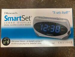 NEW IN BOX EMERSON RESEARCH SMARTSET AM/FM DUAL ALARM CLOCK RADIO-CKS1862
