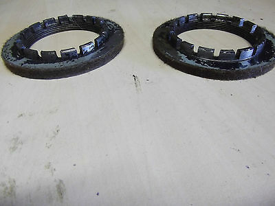 Early castle nuts with felt inserts for Citroen 2cv.950+Citroen parts in SHOP