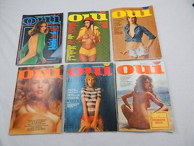 Vintage Oui 1970s Lot Of 6 Complete Magazines