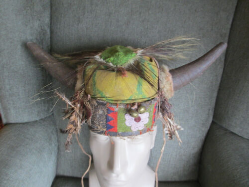 VINTAGE ANTIQUE ORIGINAL CROW INDIAN PRE 1890 NATIVE AMERICAN WARRIOR HEADDRESS