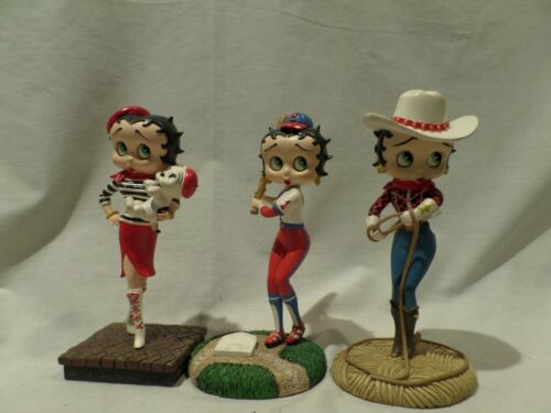 BETTY BOOP COLLECTIBLE FIGURINES--LOT OF THREE BY DANBURY MINT