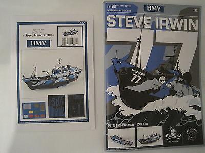 Steve Irwin 1:100 Schiff Kartonbausatz *NEU* Bastelbogen incl. Lasercut