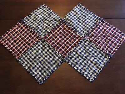NEW Primitive Homespun Quilt Table Runner Candle Mat  Handmade