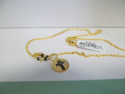 Unwritten 14K Gold Over Sterling Silver Cross Pendant Nwt  135   50  Off