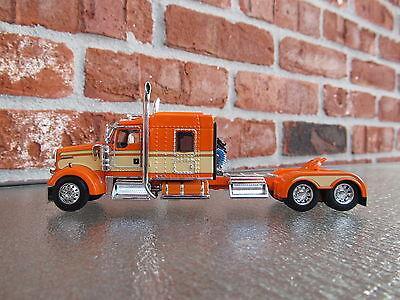 Dcp 1 64 Scale W 900 Kenworth Mid Roof Orange Cream Seminole Stripe Tractor Only