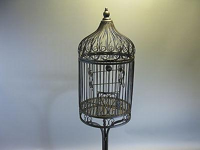 Nostalgie Metall Vogelkäfig Käfig mit Ständer Deko Dekoration 135 cm braun