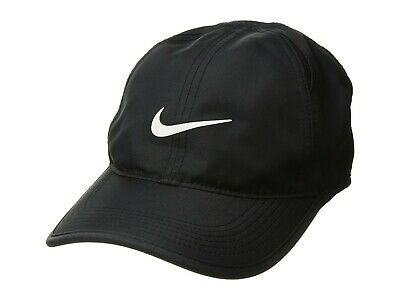 Nike Featherlight Cap Dri-Fit Adjustable in Black White 679421-010 New w/ Tags