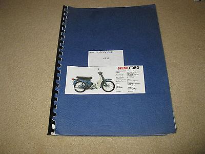 Suzuki FR50 Workshop Parts Catalogue List - motorcycle