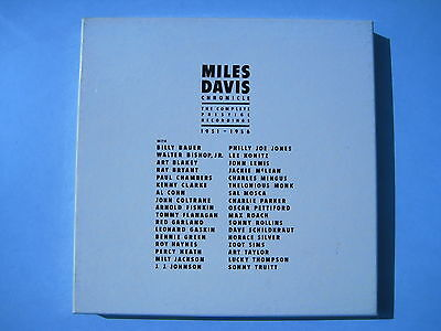 "12 LP BOX - MILES DAVIS ""CHRONICLE"" THE COMPLETE PRESTIGE RECORDINGS 1951-1956"