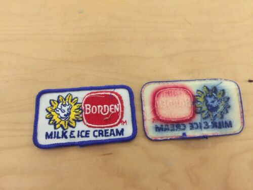 """bordens dairy,elsie the cow  vintage patch,""""milk and ice cream"""" 1970"""