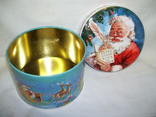 Designed by Daher Santa Claus Tin Box Made in England