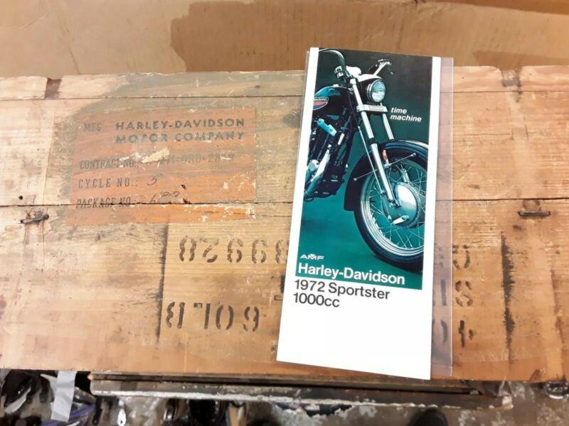 OEM NOS Harley Davidson 1972 Sportster 1000cc Sales Brochure AMF Rare