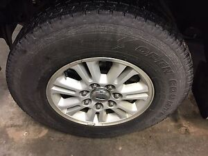 Ford f150 7x150 rims and new winter tires