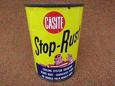 Vintage 1960's Casite Rust Inhibitor NOS Metal Unopened 15 oz. Can Nice Graphics