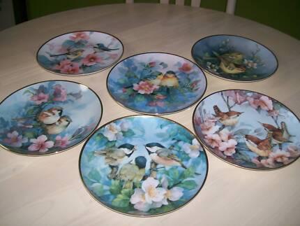 Fairy Wren plates RARE FULL SET of 6 plates