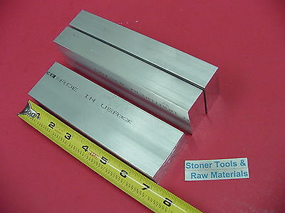 3 Pieces 1 X 2 Aluminum 6061 Flat Bar 7 Long Solid 1.00 T651 Plate Mill Stock