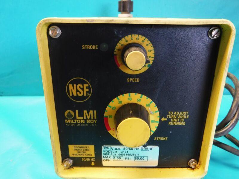 USED MILTON ROY METERING PUMP C131 120 V.A.C
