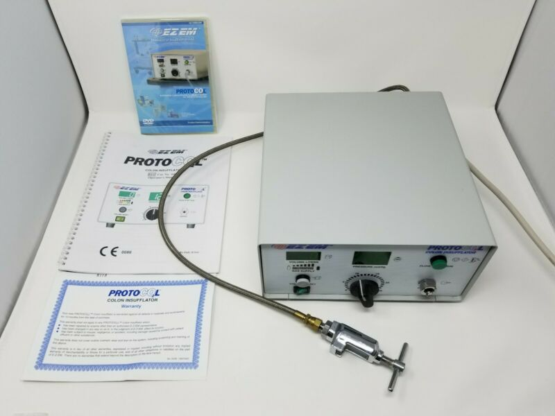 Ezem Protocol / ProtoCo2l Co2 Colon Insufflator + Yoke + Manual + DVD + Warranty
