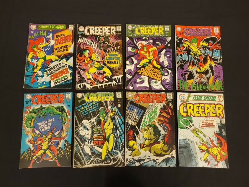CREEPER 8 ISSUE COMIC RUN SHOWCASE #73 BEWARE THE CREEPER #1-7 SILVER AGE