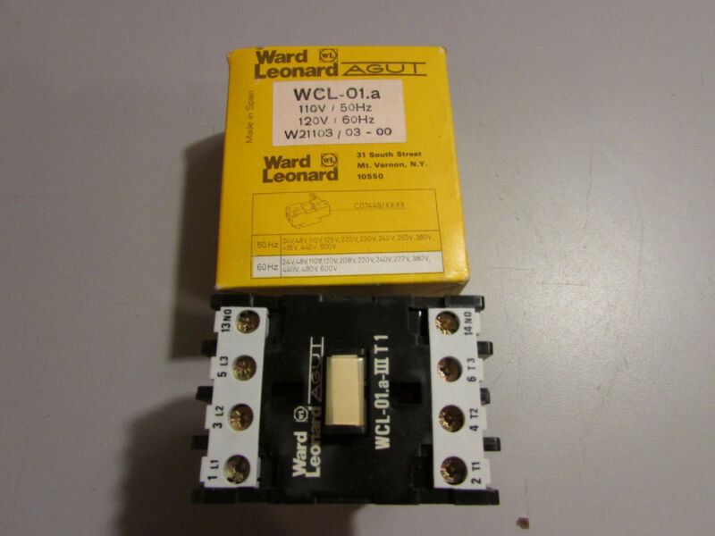 Ward Leonard WCL-01.aIIIT1 Contactor With 120/110V - 50/60Hz Coil # 7449