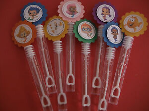 8 BUBBLE GUPPIES party favors, bubble wands, Bubbles Birthday