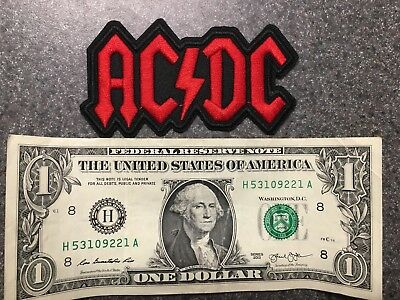 AC/DC Iron On Patches Embroidered Patch! Rock and Roll!! free shipping!