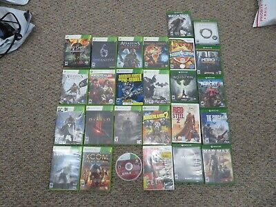 Lot Of 26 Xbox One And Xbox 360 Mixed Video Games Batman, Farcry 4, Elder Scroll