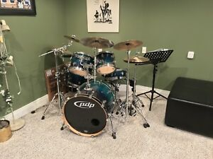 PDP Drum Set, Cymbals, Cases & Accessories