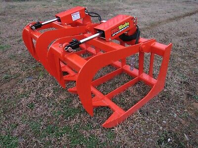 Kubota Tractor Loader 60 Dual Cylinder Root Rake Grapple Attachment - 99 Ship