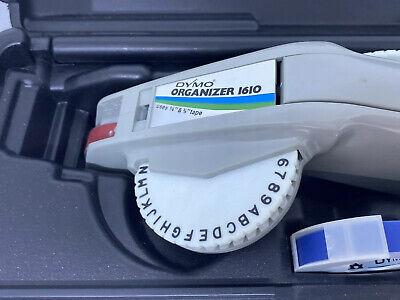 Vintage Dymo Organizer Label Maker Wcase 2 Extra Wheels - 2 Rolls Of Tape