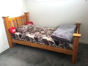 King Single Large Bed & mattress - Solid Wood  Tarneit Wyndham Area Preview