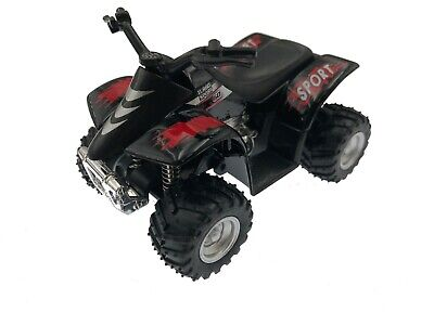 "Used, 3.5"" Kinsfun Smart ATV Four-Wheeler Diecast Model Toy Car Off Road Quad Black for sale  Los Angeles"