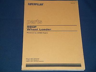 Cat Caterpillar 980f Wheel Loader Parts Book Manual Sn 5xj1-up