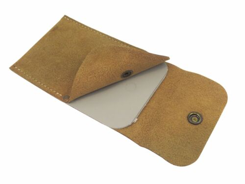 """French Leather Cabinet Scraper Wallet w/ 4 Pockets for 3-1/4"""" x 6-1/2"""" Scrapers"""